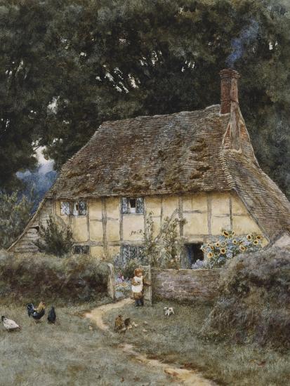 On the Brook Road, Near Witley-Helen Allingham-Premium Giclee Print