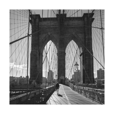 On the Brooklyn Bridge 2-Henri Silberman-Photographic Print