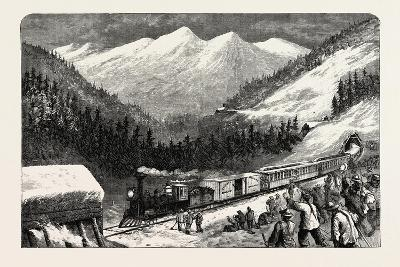 On the Central Pacific Railroad, USA, 1870s--Giclee Print