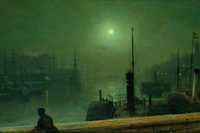 On the Clyde, Glasgow, 1879-John Atkinson Grimshaw-Giclee Print
