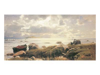 On the Coast of Ruegen-Eugen Bracht-Art Print