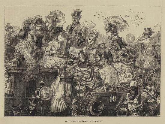 On the Course at Ascot--Giclee Print