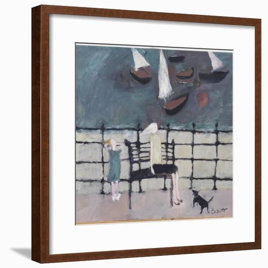 On the Edge, 2008-Susan Bower-Framed Giclee Print