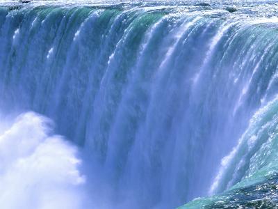 On the Edge of Powerful Niagara Falls, New York-Bill Bachmann-Photographic Print