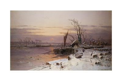 On the Estuary, Near Monmouth-Charles Brooke Branwhite-Giclee Print