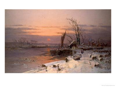 On the Estuary-Charles Brooke Branwhite-Giclee Print