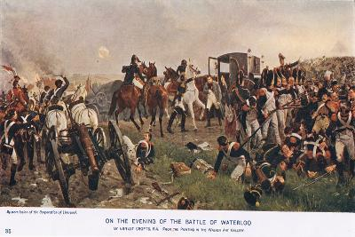 On the Evening of the Battle of Waterloo--Giclee Print