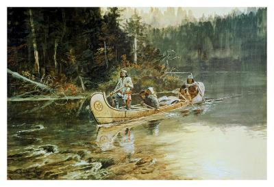 On The Flathead-Charles Marion Russell-Art Print