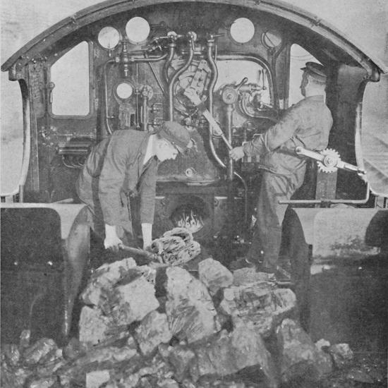 'On the Footplate of a Great Western Express Engine', 1926-Unknown-Photographic Print