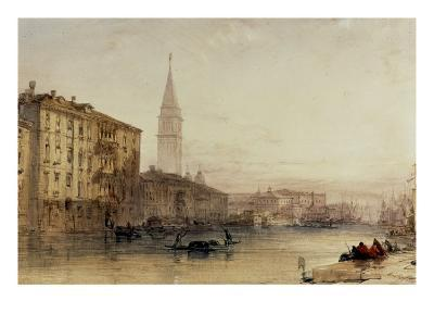 On the Grand Canal, Venice - An Evening View-William Callow-Giclee Print