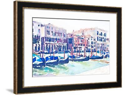 On the Grande Canal-Emily Navas-Framed Art Print
