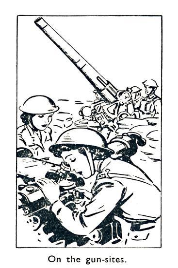 'On the gun-sites', 1940-Unknown-Giclee Print