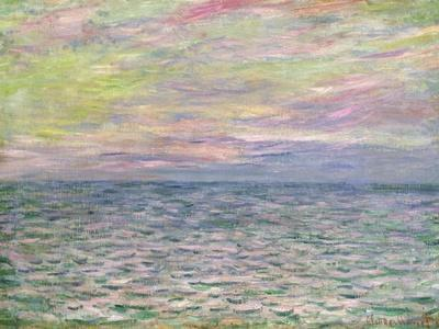 On the High Seas, Sunset at Pourville-Claude Monet-Premium Giclee Print