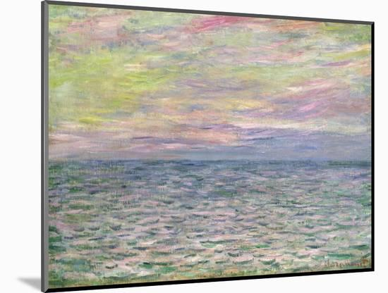 On the High Seas, Sunset at Pourville-Claude Monet-Mounted Premium Giclee Print