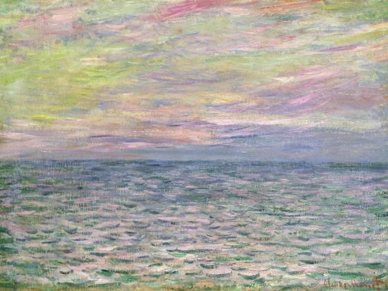 On the High Seas, Sunset at Pourville-Claude Monet-Giclee Print