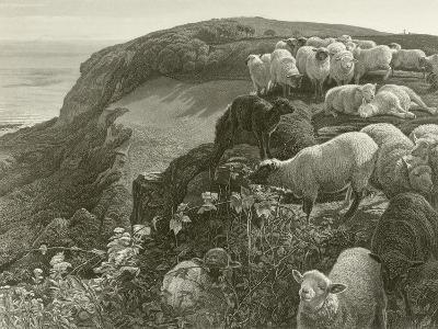 On the Hillside-William Holman Hunt-Giclee Print