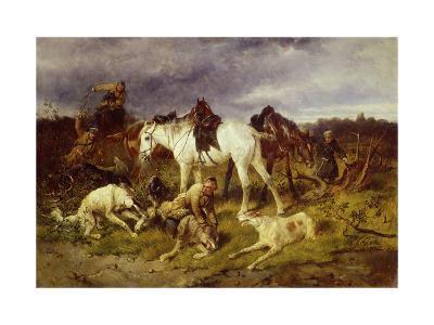 On the Hunting, 1870S-Nikolai Yegorovich Sverchkov-Giclee Print