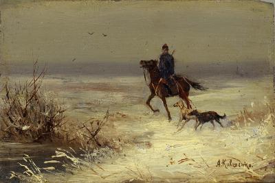 On the Hunting, Second Half of the 19th C-Alexei Danilovich Kivshenko-Giclee Print