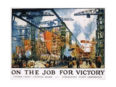 On the Job for Victory Poster-Jonas Lie-Giclee Print