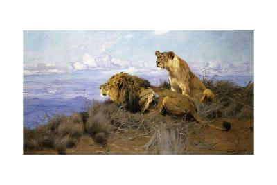 On the Lookout-Wilhelm Kuhnert-Giclee Print
