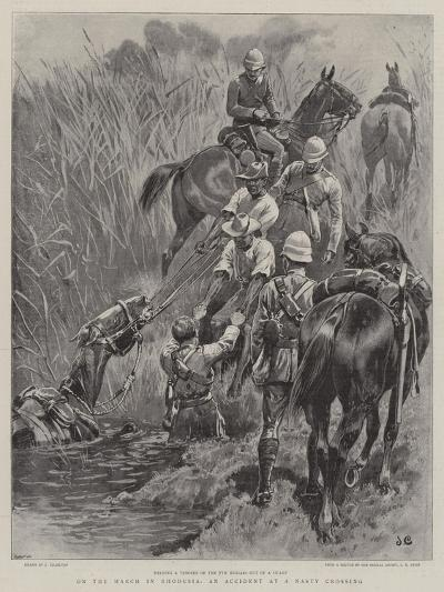 On the March in Rhodesia, an Accident at a Nasty Crossing-John Charlton-Giclee Print