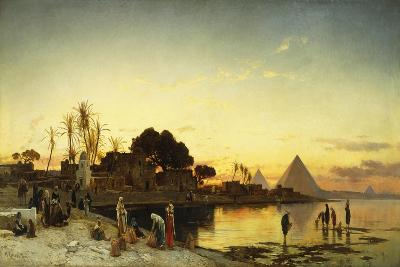 On the Nile, C.1875-Herman David Salomon Corrodi-Giclee Print