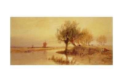 On the Norfolk Broads, Evening-Edward Duncan-Giclee Print