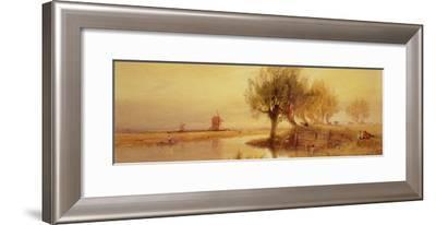 On the Norfolk Broads, Evening-Edward Duncan-Framed Giclee Print