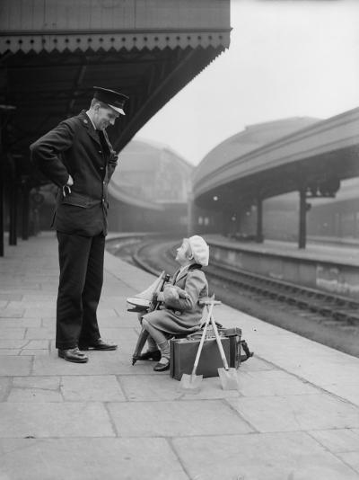 On the Platform--Photographic Print