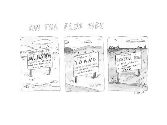 On The Plus Side - New Yorker Cartoon-Roz Chast-Premium Giclee Print