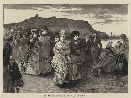 On the Promenade at Scarborough--Giclee Print