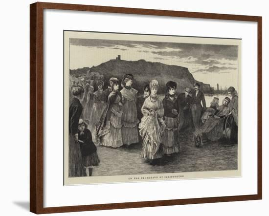 On the Promenade at Scarborough--Framed Giclee Print