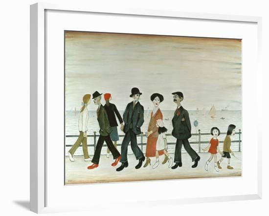 On The Promenade-Laurence Stephen Lowry-Framed Giclee Print