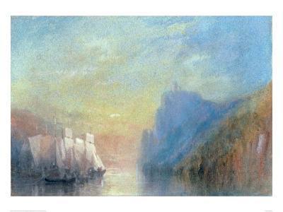 On the Rhine, c 1830-J^ M^ W^ Turner-Giclee Print