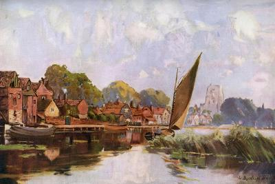 On the River at Beccles, Suffolk, 1924-1926-Louis Burleigh Bruhl-Giclee Print