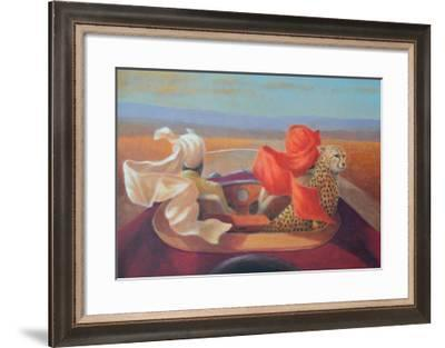 On the Road and Cheetah-Lincoln Seligman-Framed Giclee Print