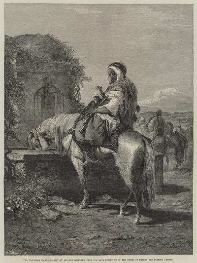 On the Road to Jerusalem-Adolf Schreyer-Giclee Print