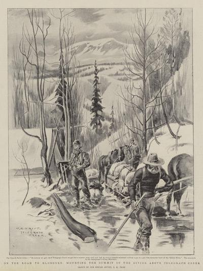 On the Road to Klondyke, Mounting the Summit of the Divide Above Telegraph Creek-Charles Edwin Fripp-Giclee Print