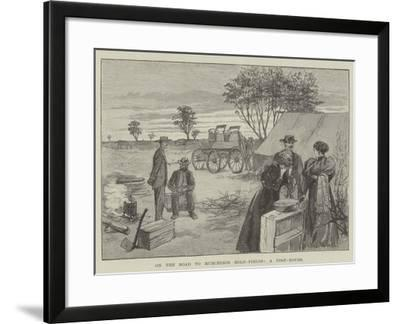 On the Road to Murchison Gold-Fields, a Post-House-Julius Mandes Price-Framed Giclee Print