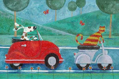 On the Road with Duke and Sweetpea-Peter Adderley-Art Print