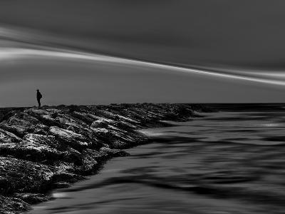On the Rocks Bw-Josh Adamski-Photographic Print