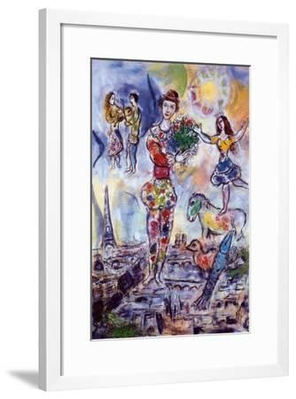 On the Roof of Paris-Marc Chagall-Framed Art Print