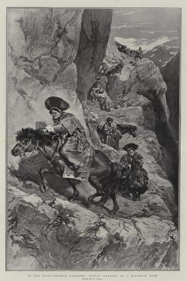 On the Russo-Chinese Frontier, Buriat Amazons on a Mountain Path-William Small-Giclee Print