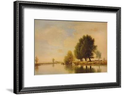 'On the Seine', c1885, (1938)-Gilbert Munger-Framed Giclee Print