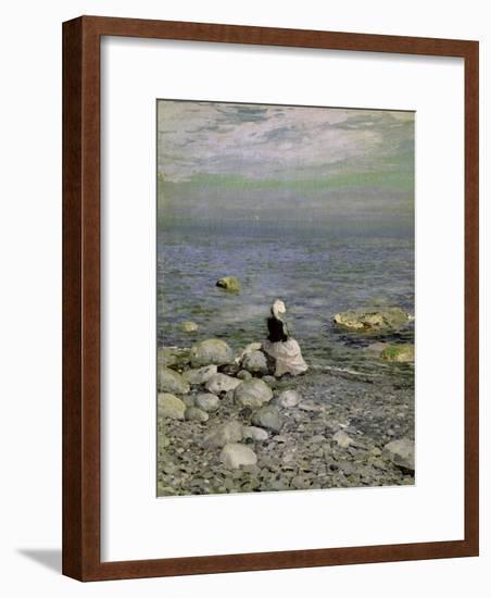 On the Shore of the Black Sea, 1890s-Konstantin A. Korovin-Framed Giclee Print