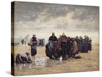 On the Shore-Jacques Eugene Feyen-Stretched Canvas Print