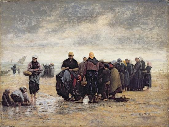 On the Shore-Jacques Eugene Feyen-Giclee Print