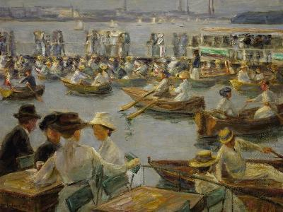 On the Shores of the Alster, Hamburg, 1910-Max Liebermann-Giclee Print