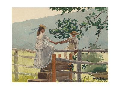 On the Stile, 1878-Winslow Homer-Giclee Print