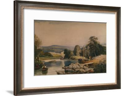 'On the Teify, Cardiganshire',19th century, (1935)-Peter de Wint-Framed Giclee Print